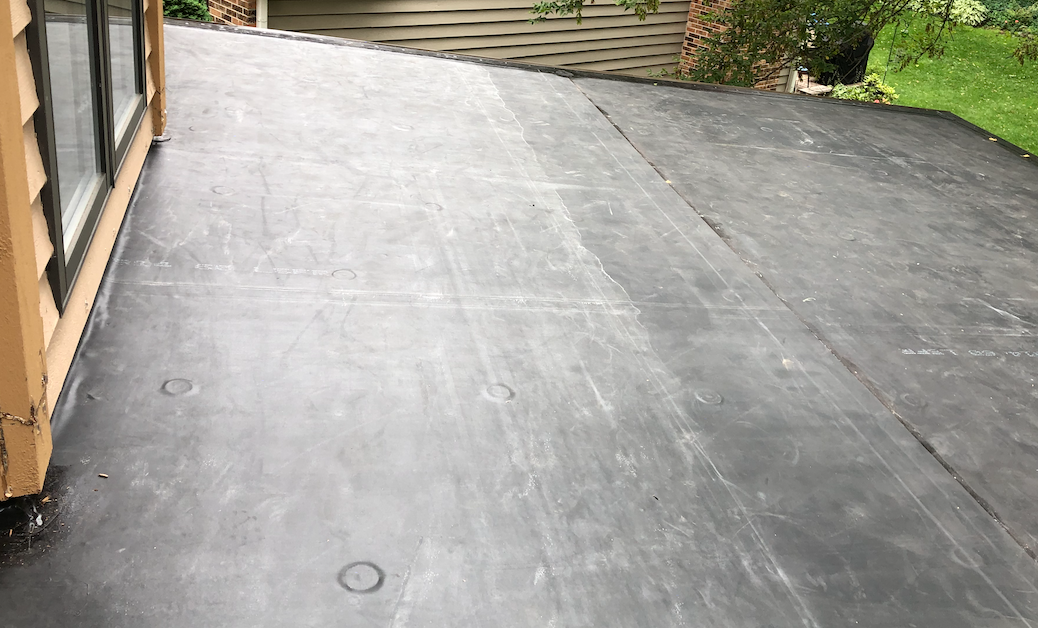 EPDM Flat Roof Installation