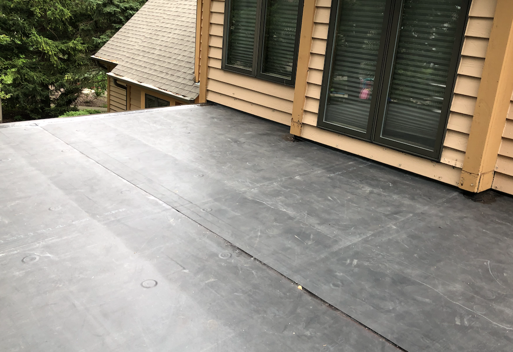 EPDM Flat Roof Installation in Grayslake