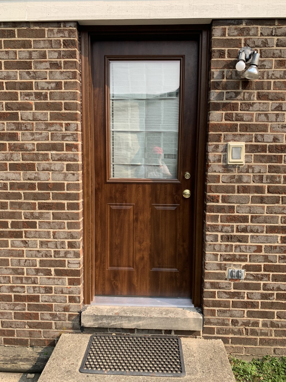new storm door installation